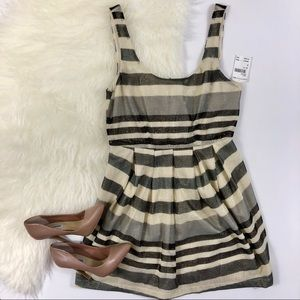 BCBGengeration Metallic Thread Striped Sundress